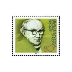 1 عدد تمبر صدمین سال تولد رومانو گوردینی - متخصص الهیات - جمهوری فدرال آلمان 1985