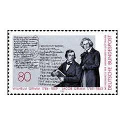 1 عدد تمبر 200مین سالگرد تولد برادران گریم- جمهوری فدرال آلمان 1985