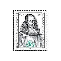 1 عدد تمبر 350مین سالگرد تولد فلیپ جاکوب اسپنر - مبلغ مذهبی - جمهوری فدرال آلمان 1985