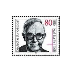1 عدد تمبر 100مین سالگرد مرگ کارل بات - مبلغ مذهبی - جمهوری فدرال آلمان 1986