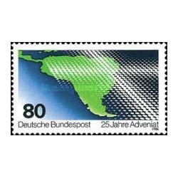 1 عدد تمبر 25مین سال کمکهای کلیسا برای آمریکای لاتین- جمهوری فدرال آلمان 1986