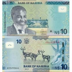 اسکناس 10 دلار - نامیبیا 2013
