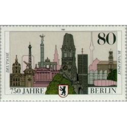1 عدد تمبر 750مین سال برلین - جمهوری فدرال آلمان 1987