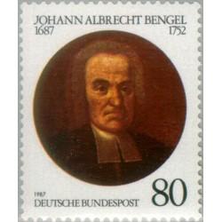 1 عدد تمبر یادبود جان آلبرشت بنگل - واعظ - جمهوری فدرال آلمان 1987