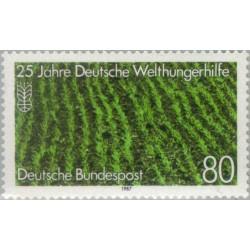 1 عدد تمبر 25مین سال کمکهای جهانی آلمان نجات از گرسنگی - جمهوری فدرال آلمان 1987