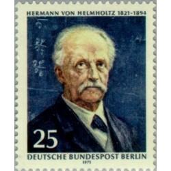 1 عدد تمبر یادبود هرمان هرمهولتز - دانشمند - برلین آلمان 1971