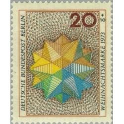 1 عدد تمبر کریستمس - برلین آلمان 1973