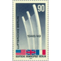 1 عدد تمبر 25مین سال حمل و نقل هوائی- برلین آلمان 1974