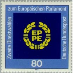 1 عدد تمبر انتخابات پارلمان اروپا - جمهوری فدرال آلمان 1984