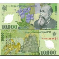 اسکناس پلیمر 10000 لیو - رومانی 2000
