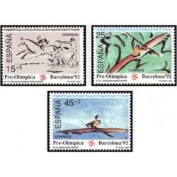 3 عدد تمبر بازیهای المپیک بارسلونا اسپانیا - اسپانیا 1991