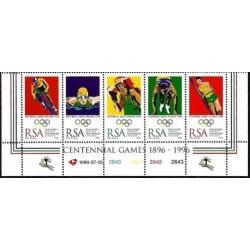 5 عدد تمبر بازیهای المپیک آتلانتا - B -  آفریقلی جنوبی 1996