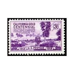 1 عدد تمبر صدمین سالروز تب طلای کالیفرنیا - آمریکا 1948