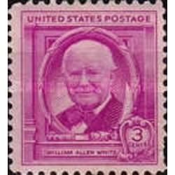 1 عدد تمبر سالروز تولد ویلیام آلن وایت - نویسنده و ژورنالیست - آمریکا 1948
