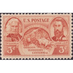 1 عدد تمبر صدمین سالگرد سرزمین اورگان - آمریکا 1948