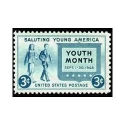 1 عدد تمبر ماه جوانان - سلام به جوانان - آمریکا 1948