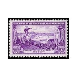 1 عدد تمبر سالگرد نبرد بروکلین - آمریکا 1951