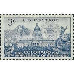 1 عدد تمبر 75مین سالگرد تاسیس ایالت کلرادو- آمریکا 1951
