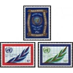 3 عدد تمبر 25مین سالگرد سازمان ملل - نیویورک سازمان ملل 1970