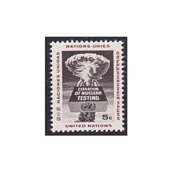 1 عدد تمبر پایان دادن به آزمایشهای هسته ای - نیویورک سازمان ملل 1964