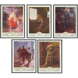 5 عدد تمبر تابلوهای نقاشی اوکراینی - شوروی 1979