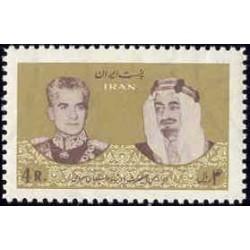1296 - بلوک تمبر دیدار ملک فیصل پادشاه عربستان سعودی 1344