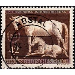 1 عدد تمبر مسابقات اسب دوانی - رایش آلمان 1944 مهر خورده