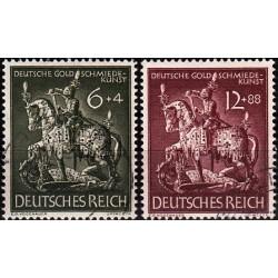 2 عدد تمبر هنر زرگری - رایش آلمان 1943 مهرخورده
