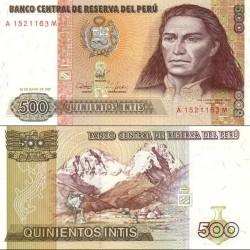 اسکناس 500 اینتیس - پرو 1987