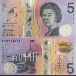 اسکناس پلیمر 5 دلار - استرالیا 2016