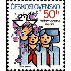 1 عدد تمبر سازمان پیشگامان جوانان - چک اسلواکی 1989