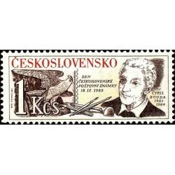 1 عدد تمبر روز تمبر - سالروز مرگ کریل بودا طراح تمبر - چک اسلواکی 1989