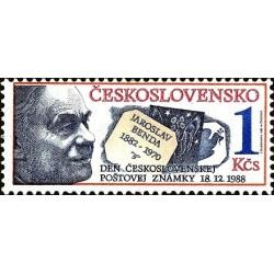 1 عدد تمبر روز تمبر  - سالگرد تولد یوروسلاو بندا طراح تمبر - چک اسلواکی 1988