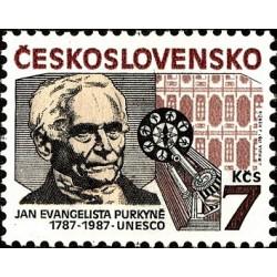 1 عدد تمبر یادبود یان اوانجلیستا پورکین - فیزیولوژیست - چک اسلواکی 1987