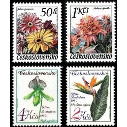4 عدد تمبر نمایشگاه گل براتیسلاوا و اولوموک - چک اسلواکی 1980 قیمت 7 دلار