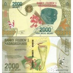 اسکناس 2000 آریاری - ماداگاسکار 2017