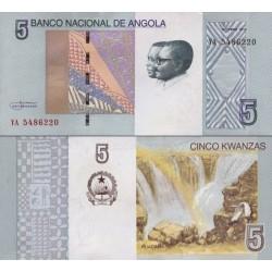 اسکناس 5 کوانزا - آنگولا 2012