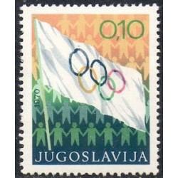1 عدد تمبر هفته المپیک - یوگوسلاوی 1970