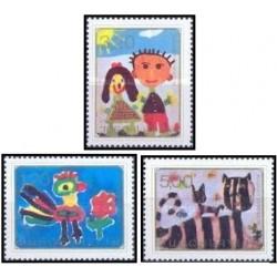 3 عدد تمبر جلسه کودکان اروپائی - یوگوسلاوی 1974