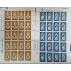 2 عدد مینی شیت تمبر مشترک اروپا - Europa Cept - -قبرس 1980