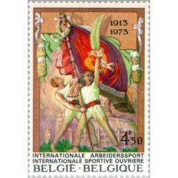 1 عدد تمبر شصتمین سال اتحادیه ورزشی مردان کارگر - بلژیک 1973