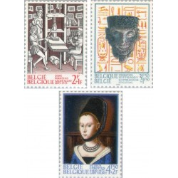 3 عدد تمبر تاریخ - بلژیک 1973