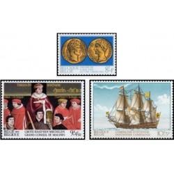 3 عدد تمبر تاریخ - بلژیک 1973 قیمت 3.2 دلار