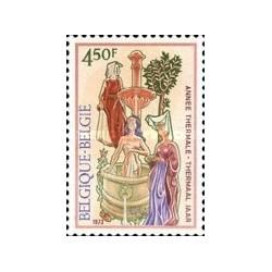 1 عدد تمبر چشمه های آب گرم - بلژیک 1973