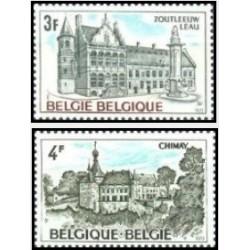 2 عدد تمبر توریسم - بلژیک 1973