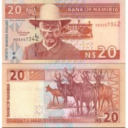 اسکناس 20 دلار - نامیبیا 2001 سریال 8 رقمی