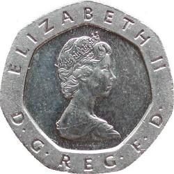 سکه 20 پنس نیکل مس - انگلیس 1982 غیر بانکی