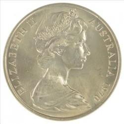 سکه 20 سنت نیکل مس - استرالیا 1970 غیر بانکی