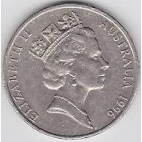 سکه 20 سنت نیکل مس - استرالیا 1996 غیر بانکی