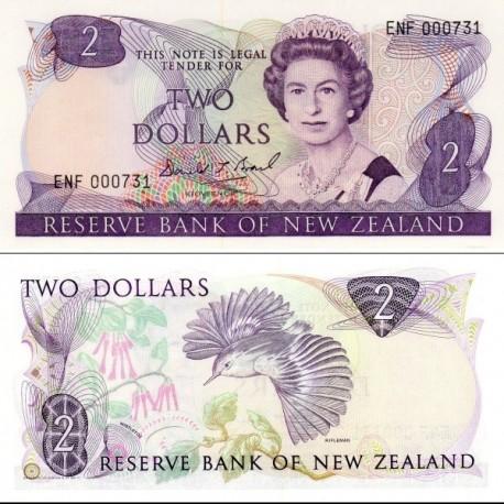 اسکناس 2 دلار -  نیوزلند 1989